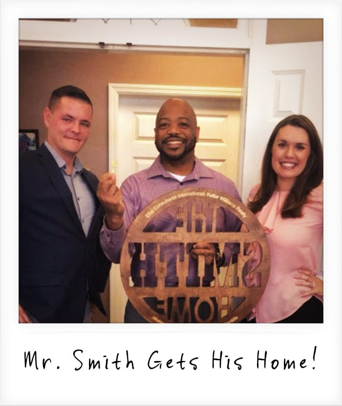 Mr. Smith Celebrates His New Home