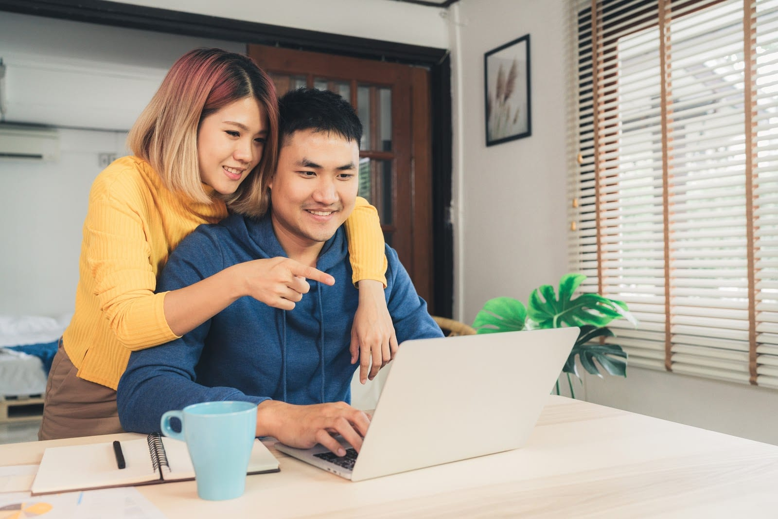 couple looking at computer together